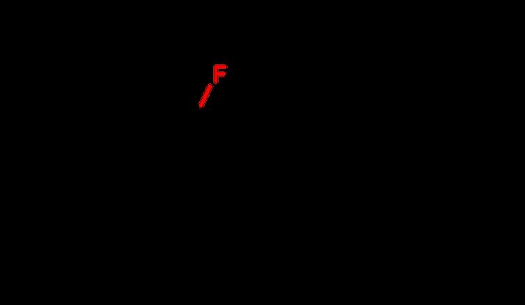 โครงสร้างทางเคมีของ fluorinated fentanyl