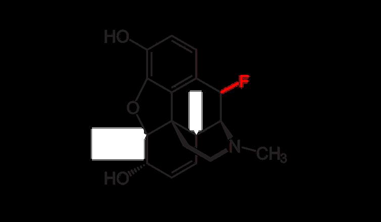 โครงสร้างทางเคมีของมอร์ฟีนฟลูออรีน