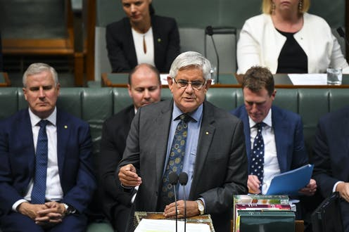 Australian Indigenous Affairs Minister Ken Wyatt speaks during House of Representatives Question Time at Parliament House