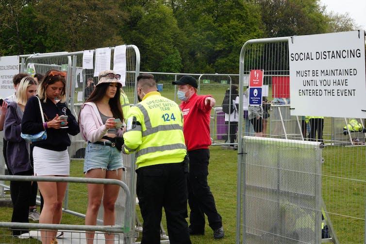 People queueing to enter the Sefton Park Pilot music festival