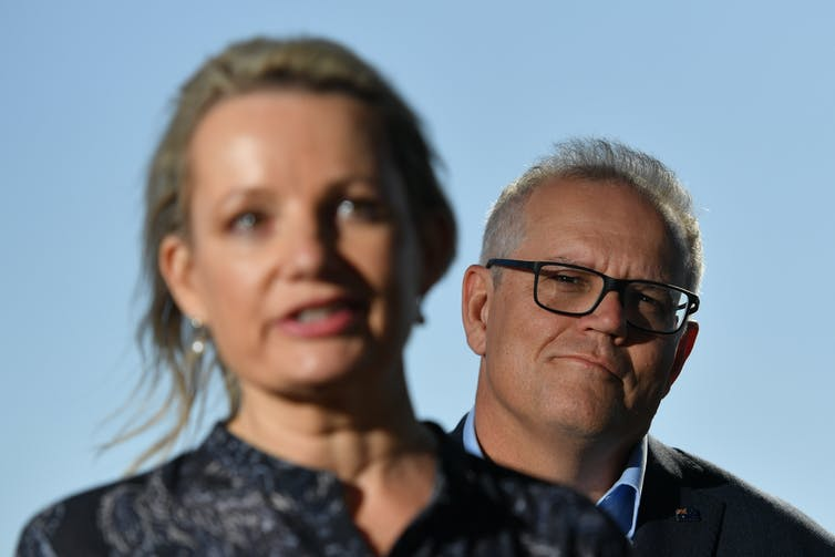 Federal Environment Minister Sussan Ley and Prime Minister Scott Morrison.