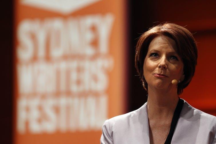 Former prime minister Julia Gillard at the Sydney Writers' Festival