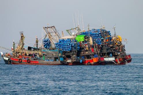 Overstocked fishing trawlers