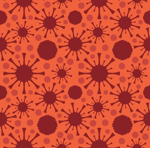 Artist impression of many coronaviruses