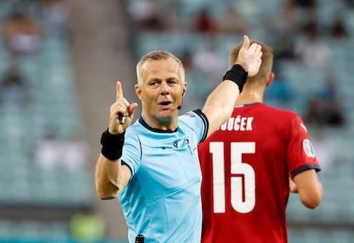 Referee Bjorn Kuipers adjudicating a match.
