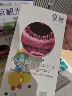 A Tokyo 2020 pamphlet in English on diversity