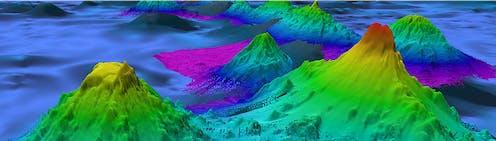 a digital map of a seamount