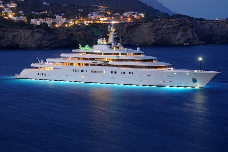A luxury super yacht.