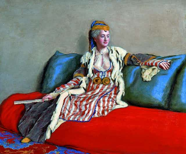A painting of Lady Montagu.