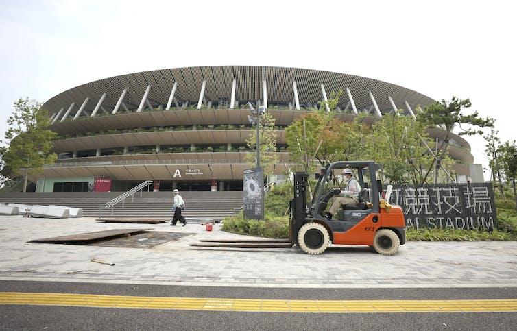 National Stadium, Shinjyuku Ward, Tokyo, July 7 2021.