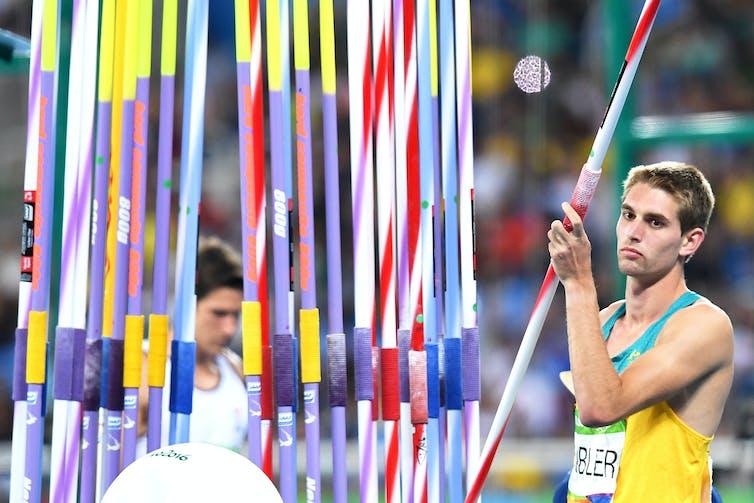 Australia's Cedric Dubler during the Men's Decathlon Javelin Throw at the Rio 2016 Olympic Games.