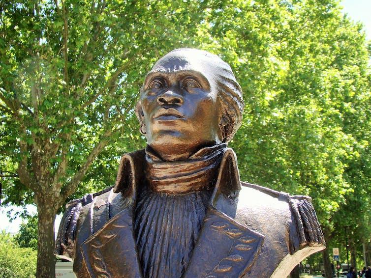 Bust of General Toussaint Louverture in Bordeaux, France.