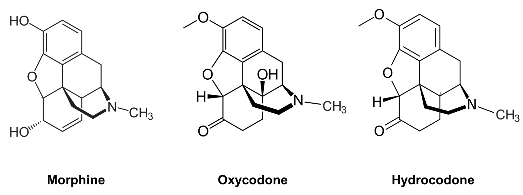 Structures of epoxymorphinan structures