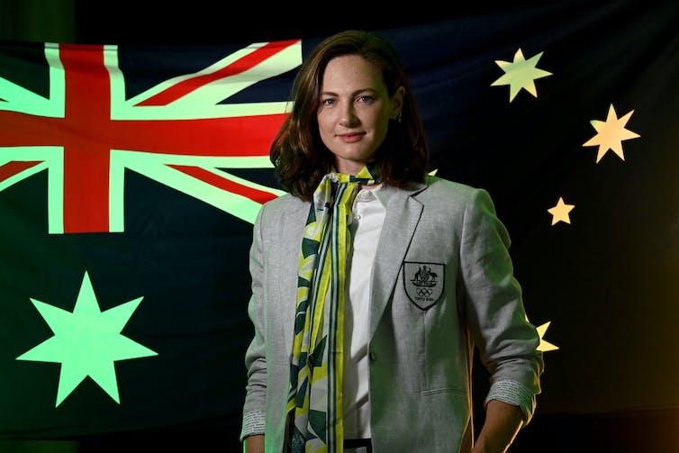 Australian co-flag bearer, Cate Campbell.