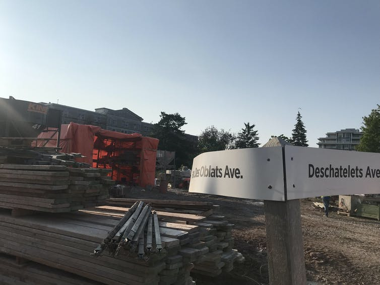 Construction on the former 'Oblates Land'