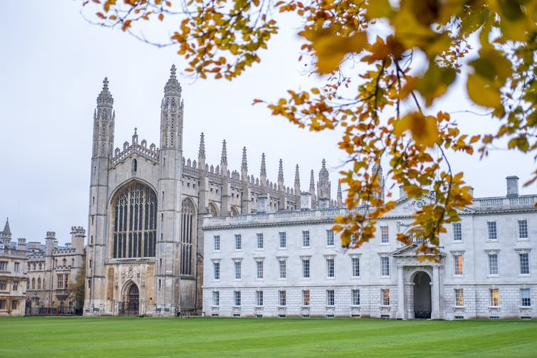 view of King's College at the University of Cambridge