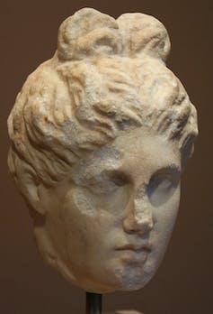 statue head of goddess