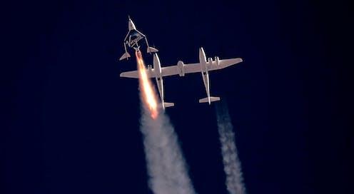 Image of Virgin Galactic launch.
