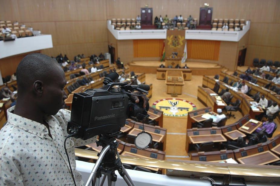 Parliamentary debate in Ghana in session