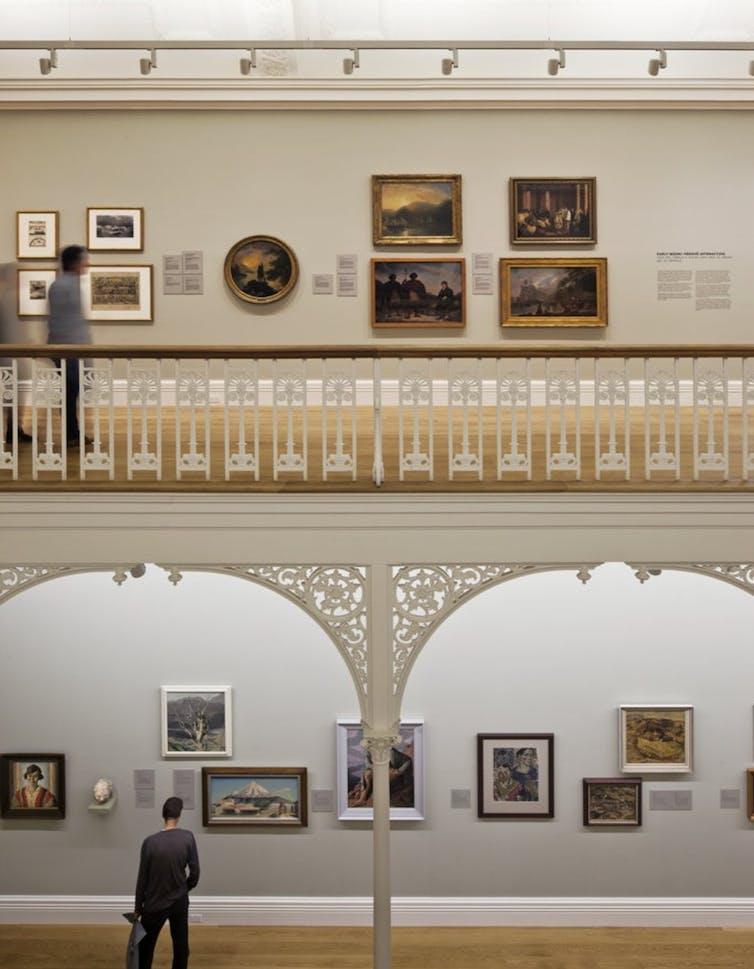 An art gallery wall
