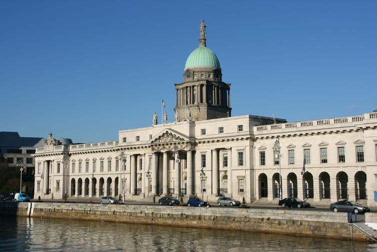 A large neoclassical stone building