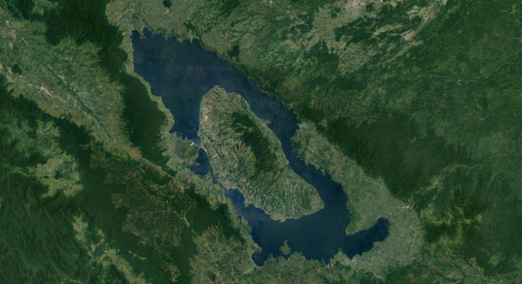 Satellite image of a lake