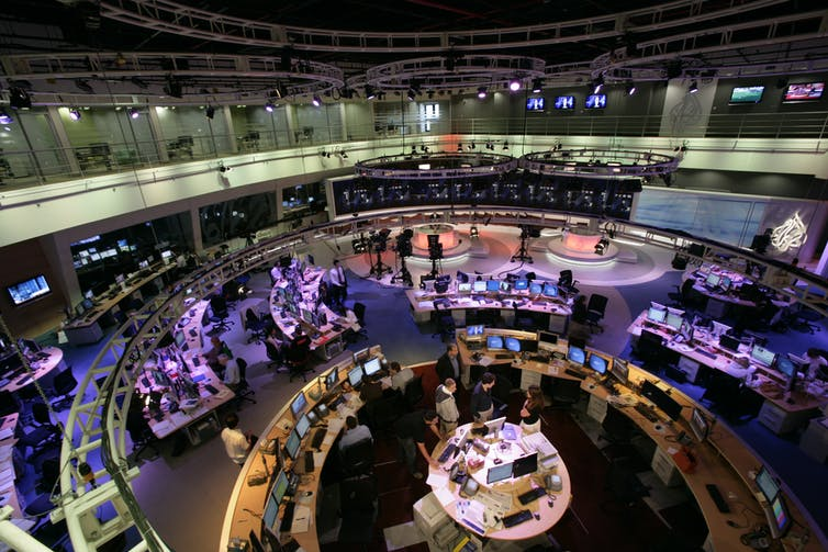 An aerial view of the Al Jazeera Australia newsroom.