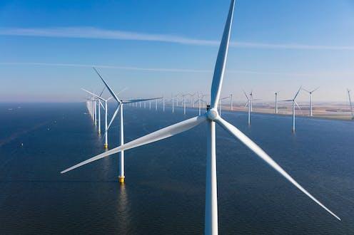 wind turbines in ocean