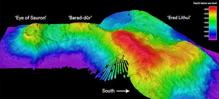 Sonar sea bed image