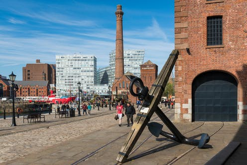 A view of Albert Dock in Liverpool