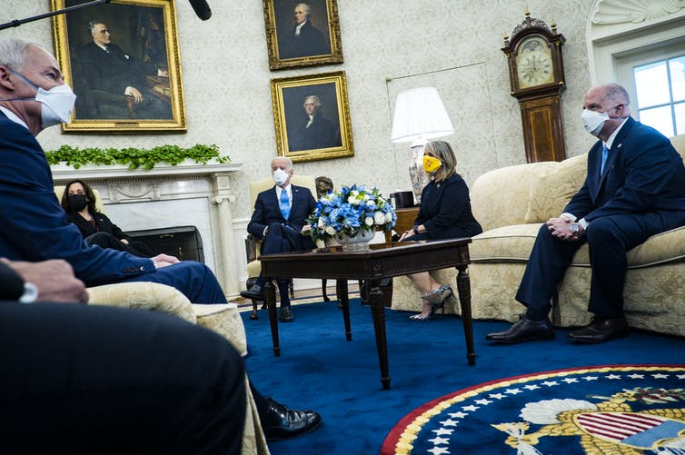 Meeting in the oval office