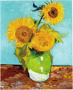 Vase with Three Sunflowers by Vincent Van Gough