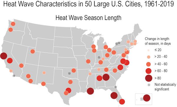 A estação quente está ficando muito mais longa em alguns lugares