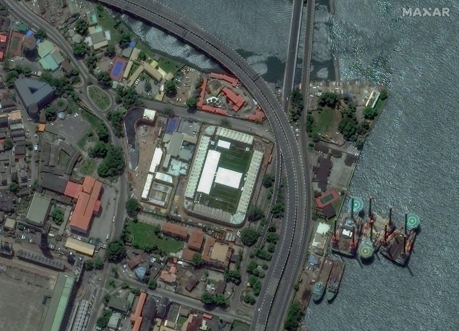 Satellite image of some parts of Lagos