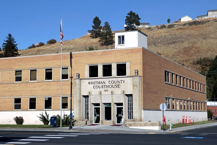 The Whitman County courthouse in Colfax, Washington.