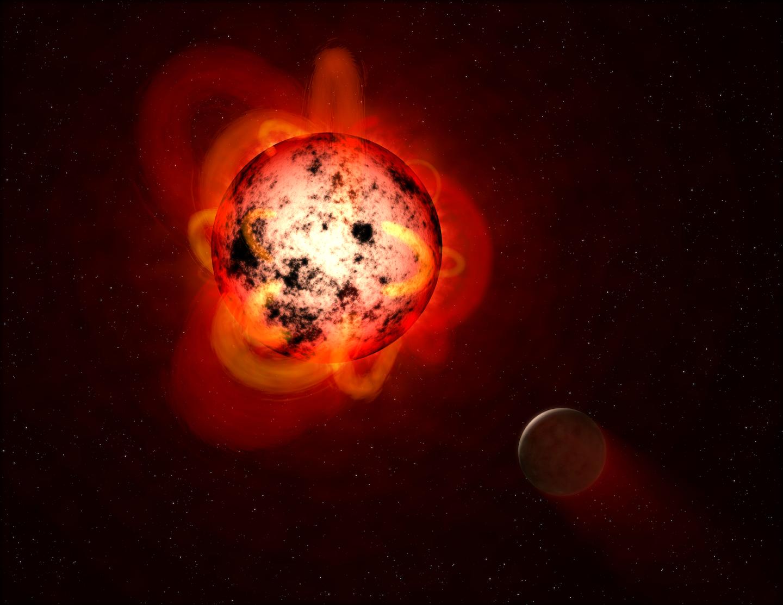A red dwarf star.