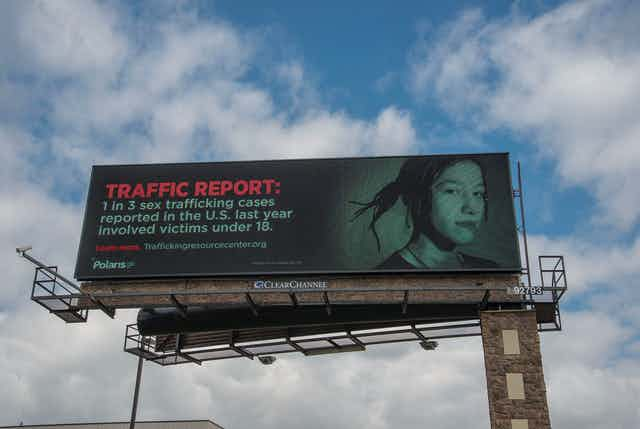 Billboard says that '1 in 3 sex trafficking cases reported in the U.S. last year involved victims under 18'