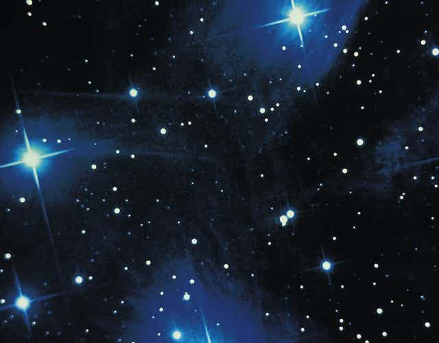 A picture of a cluster of stars.