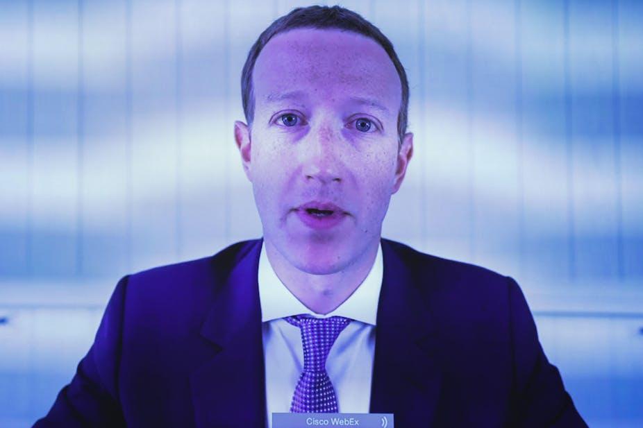 Mark Zuckerberg in a suit and tie