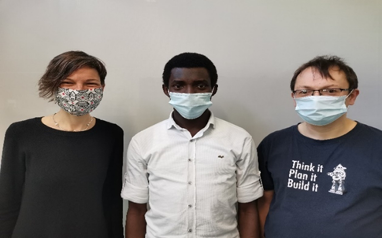 Study team wearing face masks