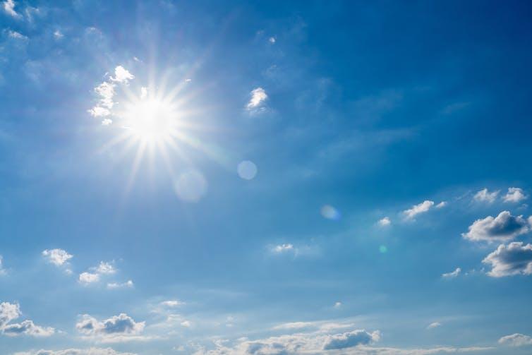 A photograph of the Sun.