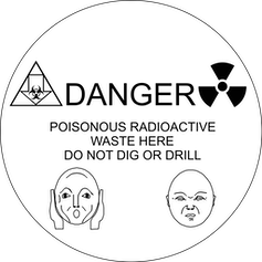 warning sign for radioactive waste