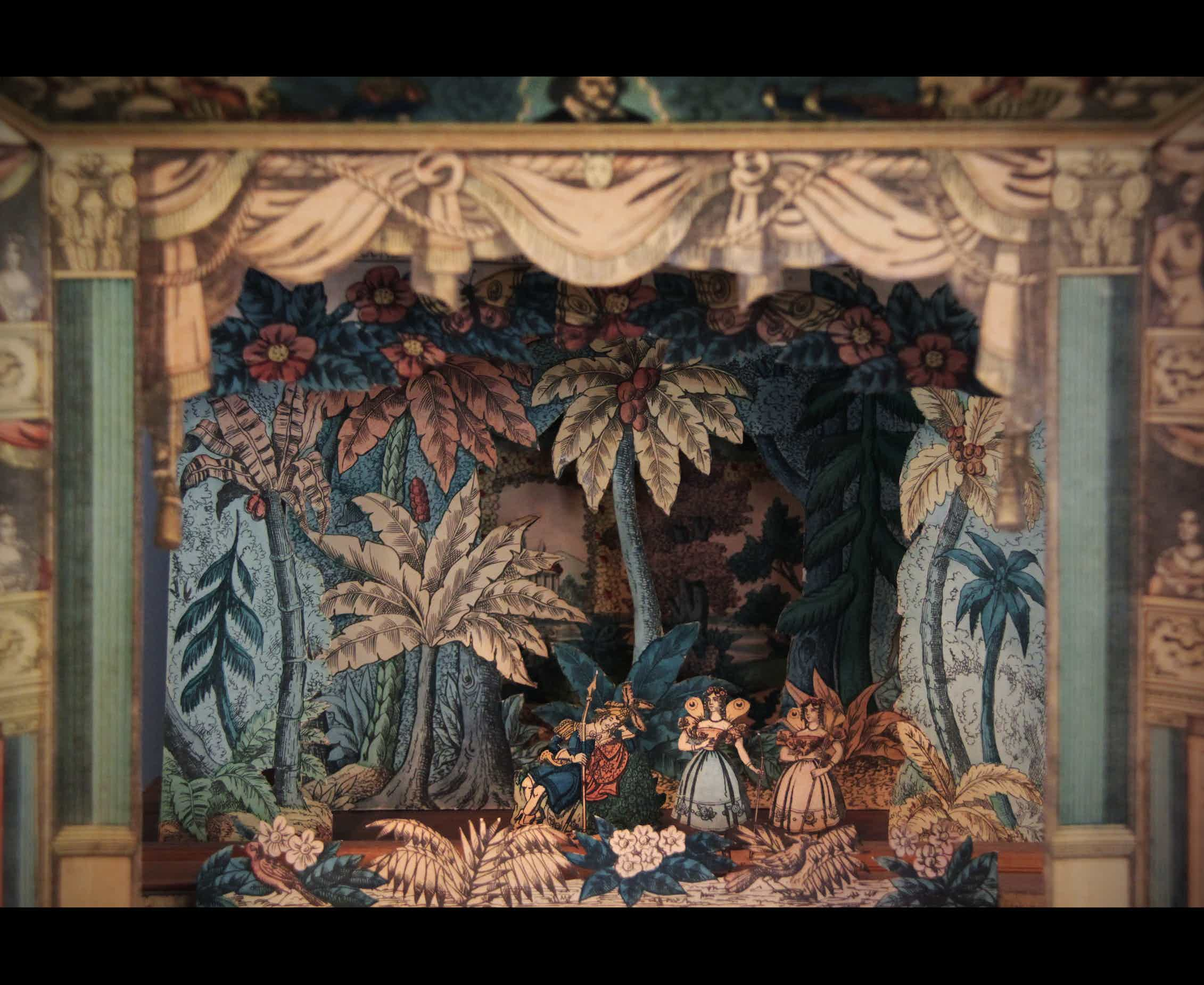 A paper theatre set from the Victorian and Albert Museum of Childhood