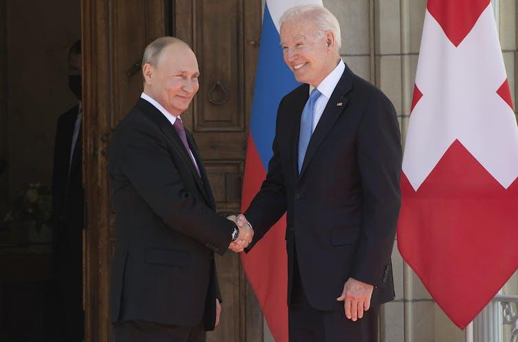 Biden and Putin at their Switzerland summit