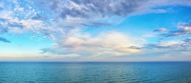 Panorama of the ocean
