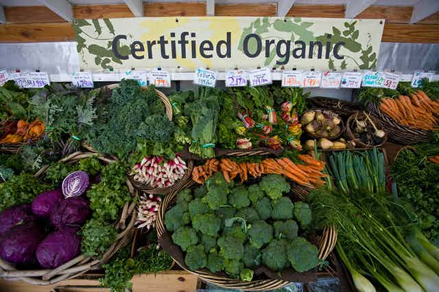 """Produce for sale, marked """"Certified Organic"""""""