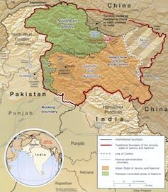 Map of Kashmir.
