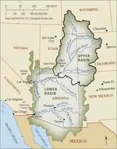 Map of Colorado River Basin.