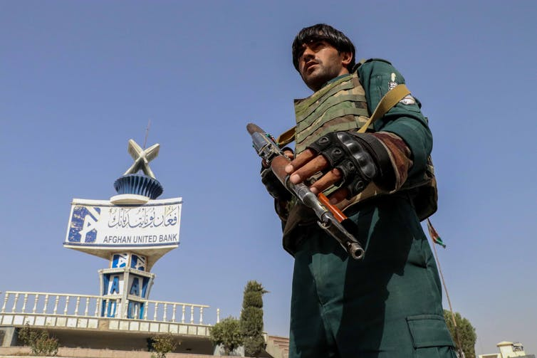 Afghan security official in Kandahar.