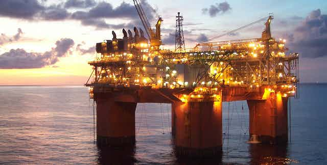A BHP-operated offshore drilling rig.